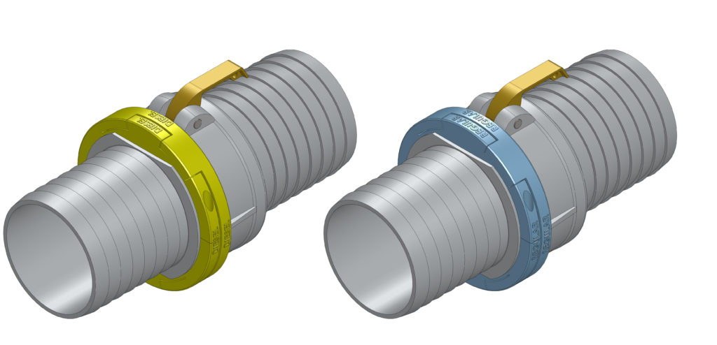 Diesel and Regular KamKey Camlock Coupling - The Keyed Camlock Cam and Groove Coupling